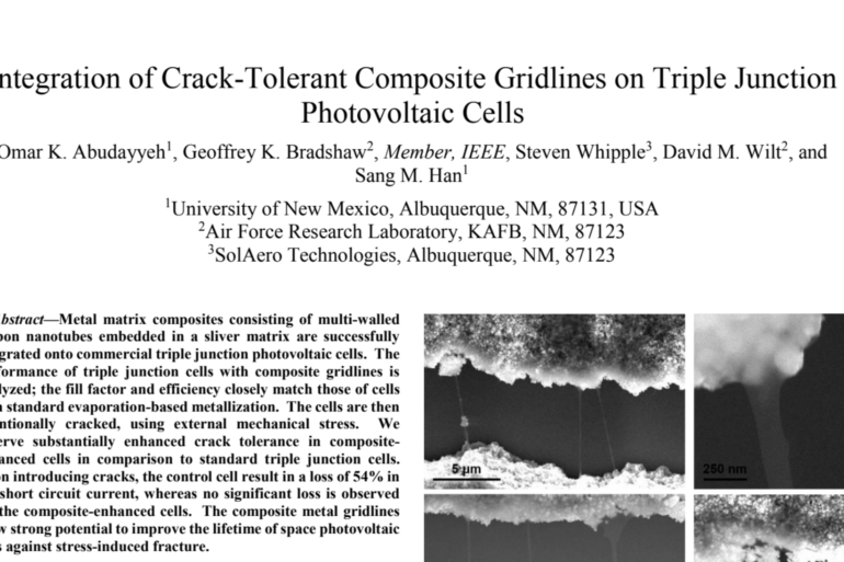 Integration of Crack-Tolerant Composite Gridlines on Triple Junction Photovoltaic Cells